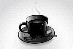 #ConvertToBlack / Black coffee cup
