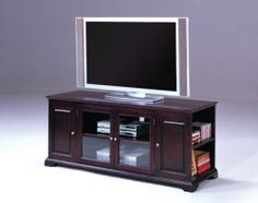 What better place for dad to store his movies, games, and electronics than this stunning entertainment center? ($238) #fathersday #giftsfordad #fathersdaypresents