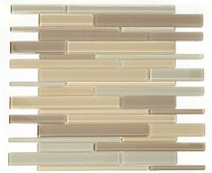This gorgeous glass mosaic medley would look beautiful as an accent in any home. GLZ Cane FF