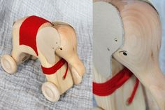 fantastic wooden elephant pull toy