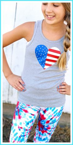 Hand Cut Heat Transfer Vinyl - yes, just cut it with scissors!!  cute idea for a diy olympics usa tee - - Sugar Bee Crafts