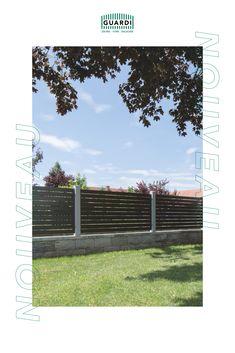 Mit dem richtigen Fundament wirkt unser NOUVEAU besonders eindrucksvoll. Vor allem auf einer Steinmauer oder einem Fundament aus Beton verleiht das schlichte Design dieses Gartenzaunes deinem Grundstück einen modernen Touch. Fence Ideas, Stone Fence, Garden Fencing, Contemporary Design