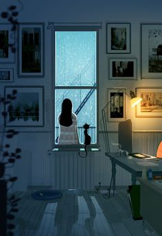 """The human illustrations of Pascal Campion Stock Design, Pascal Campion, Anime Scenery, Animes Wallpapers, Iphone Wallpapers, Aesthetic Art, Deviantart, Cat Art, Les Oeuvres"