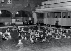 Miss bonham in the back of the pic , the old swimming baths kettering