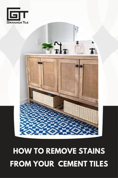 Squeaky clean again! Keep your cement tiles looking brand-new by discovering how to get stains out. #cleaning101 #stainremovaltips #cleancementtiles