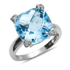 Ebay NissoniJewelry presents - Ladies .04CT Diamond Fashion Ring with Blue Topaz in 10k White Gold    Model Number:CG-4899W077BT    http://www.ebay.com/itm/Ladies-.04CT-Diamond-Fashion-Ring-with-Blue-Topaz-in-10k-White-Gold/321611843260