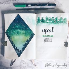 Yesterday I showed you a peak of my April front page. This is the end result. My theme for this month is; Forest!