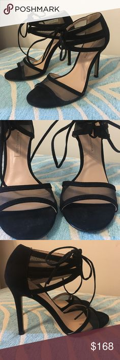 BCBGMAXAZRIA gorgeous mesh Pumps Only worn once inside for an event!!!!!! Suede and mesh details BCBGMaxAzria Shoes Sandals