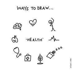 Fit. Word of day 74: health. . . #365waystodrawfestival #health #gezondheid #illustratie #illustration #tekening #waystodraw #icons #sketchnote #visualnote #graphicrecording #getekendverslag #getekendenotulen #zakelijktekenen #visuelenotulen #visueelnotuleren #tekening #studiolimon #haarlem #amsterdam #denbosch
