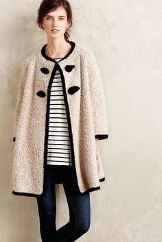 blonde boucle jacket