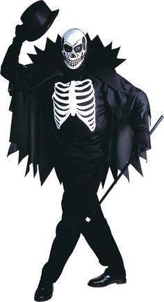 Disfraz esqueleto con capa adulto Halloween  Este disfraz de esqueleto  incluye una camiseta 1bd021d3cc5