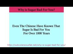 Why is Sugar Bad For You? Even The Chinese Have Known That Sugar Is Bad For You For Over 1000 Years.