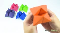 How to Fold a Fortune Teller – Origami Fortune Teller Game, Origami Fortune Teller, Paper Fortune Teller, Paper Folding Crafts, Paper Crafts Origami, Fun Diy Crafts, Crafts For Kids, Arts And Crafts, Paper Games For Kids