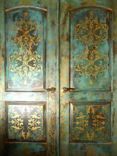 Stenciling and Pattern Ideas for Doors