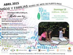 PUERTO RICO ART NEWS: Calendario de Actividades de Abril 2015 para Niños...