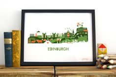 Image of Edinburgh Skyline Print