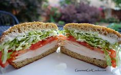 Gourmet Girl Cooks: Amazing Turkey SANDWICH on a Sesame Seed Bun - Low Carb, Wheat/Grain & Gluten-Free