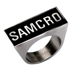 Sons of Anarchy Stainless Steel Oversize SAMCRO Ring