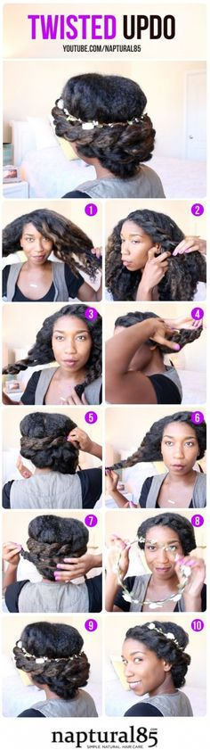 5. #Bohemian Flat Twist Updo - 67 #Crushworthy Natural Hair