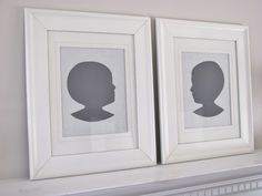 DIY Silhouettes - City Farmhouse. These are so cute, cheap, and can be customized to match any decor. I love that they are chic yet sentimental.