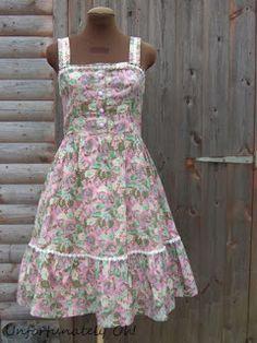 floral dress refashion