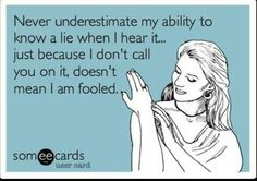 Not fooled at all... Lol