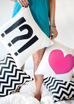 I SPY APT | Heart & Punctuation Pillow