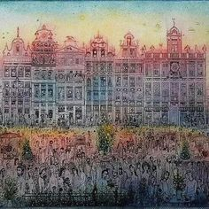 In Memoriam, Arnold Gross, Hungarian Graphic Artist City Photo, Fantasy, Artist, Painting, Photos, Urban Landscape, Etchings, Pattern, Art