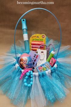 Surprise your little Elsa fan this Easter with the fabulous and fancy Frozen Easter Basket!
