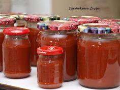 Ketchup z cukinii z pieprzem cayenne od Anety i Jacka Ketchup, Salsa, Jar, Food, Essen, Salsa Music, Meals, Yemek, Jars