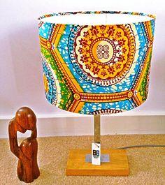Kaleidoscope handmade African print lampshade - 30 cm on Etsy, £30.00