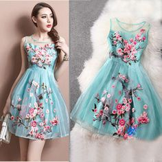 European Grand Prix 2014 spring new Dresses organza silk embroidery princess dress wedding dress party