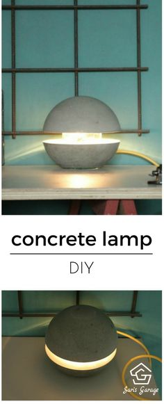 Betonlampe DIY - Betonlampe selber machen Concrete lamp make yourself concrete lamp diy, concrete ta Beton Design, Concrete Design, Make A Lamp, Concrete Table, Concrete Crafts, Diy Table, Table Lamps, Home Accessories, Diys