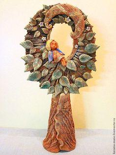 Купить Сон Ангела - дерево, древо жизни, ангел-хранитель, керамика ручной работы