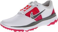 Nike Golf womens FI Impact Golf ShoeWhiteGreyVivid Pink6 M US -- Click image to review more details.
