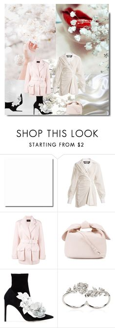 """A Spring Wedding"" by sue-mes ❤ liked on Polyvore featuring Once Upon a Time, Jacquemus, Simone Rocha, Sophia Webster, Apples & Figs and Louis Vuitton"