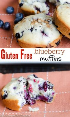 Gluten free blueberry muffins. Great breakfast recipe.
