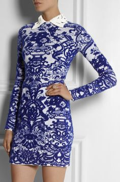 Intarsia Stretch-Knit Dress by Valentino