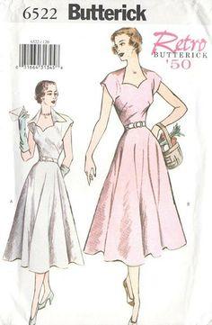 7168efb81f997e 1950s Inspired Rockabilly Dress Sewing Pattern  homespunsociety  vintage   fashion  style Dress Making