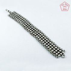 CLASSIC WIDE OXIDIZED DESIGN 925 STERLING SILVER BRACELET BR4368 #SilvexImagesIndiaPvtLtd #Chain