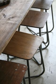 lylaandblu:  Original mid 1900's factory stools from the Ukraine
