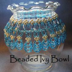 glass crafts | Beaded Glass Ivy Bowl by busycrow | Other Pattern