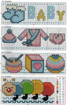 Easy Cross Stitch Patterns, Cross Stitch For Kids, Simple Cross Stitch, Cross Stitch Baby, Cross Stitch Designs, Cross Stitching, Cross Stitch Embroidery, Baby Motiv, Sewing Cards