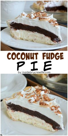 Layers of coconut and chocolate make this easy pie a delicious dessert to serve!