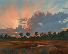 How to Paint Clouds in Watercolor - Plein Air Blog - Blogs - Artist Daily.  Sunset, Isle of Palms