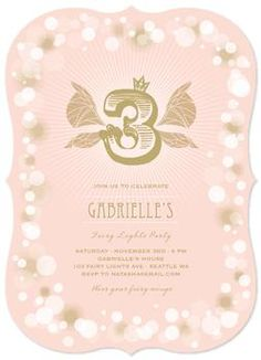 Fairy Lights Children Birthday Invitation by fatfatin - by custom request only
