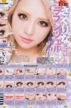 Japanese Gyaru Make up tutorial