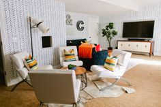 6th Street Design School : Modern Family Basement Reveal!