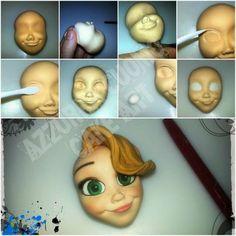 El hada de los cuentos: Tutorial Rapunzel para Fimo, Fondant y Porcelana Fría.