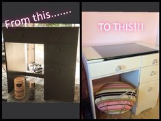 From a sad desk to a teen vanity!